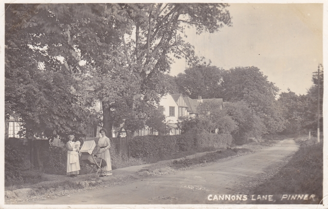 Cannon Lane near the corner of Eastcote Road 1913