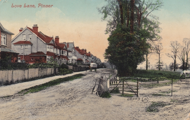 Love Lane at its corner with Avenue Road 1908